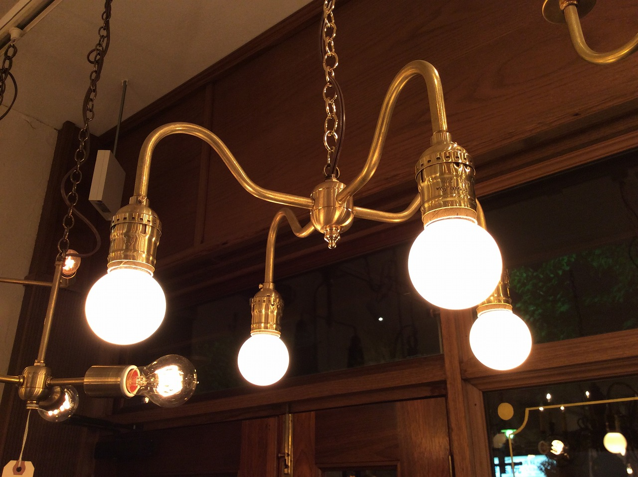 Original 4-bulbs light.