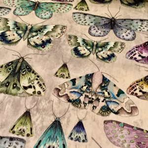 イギリス DESIGNERS GUILD 色鮮やかな蝶のプリント生地