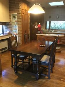 横浜家具 厚板テーブル1500