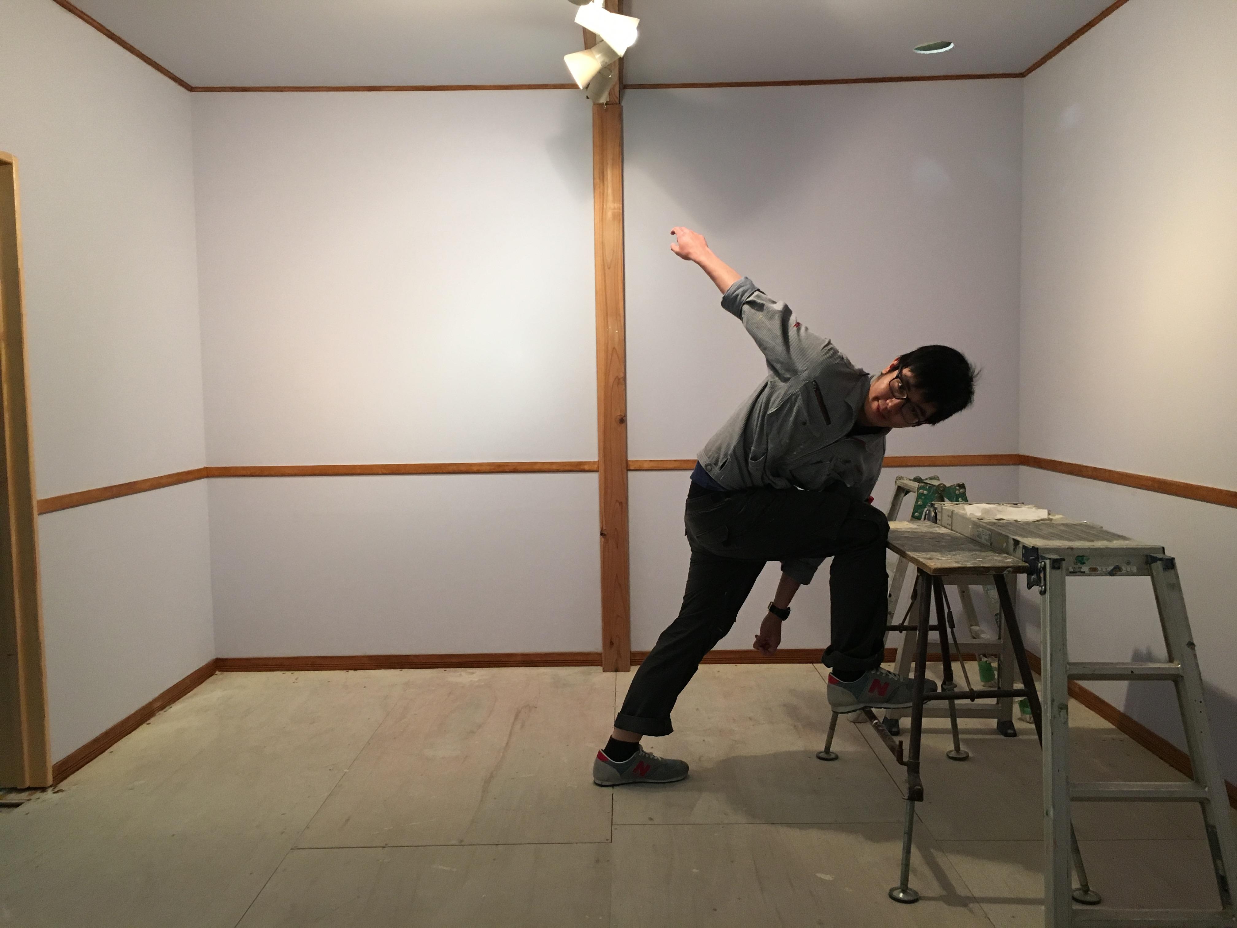 小屋の製作-塗装実習
