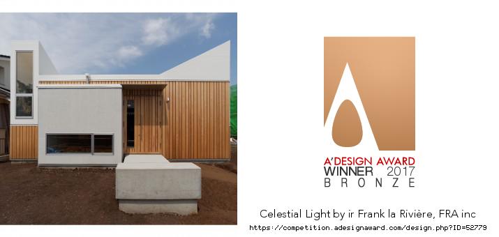 インテリアアーキテクチュア&デザイン科科長 フランク・ラ・リヴィエレ先生『A'Design Award』でBronze賞受賞!