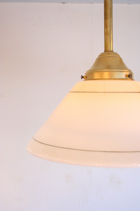 Vintage Shade Pole Lamp.