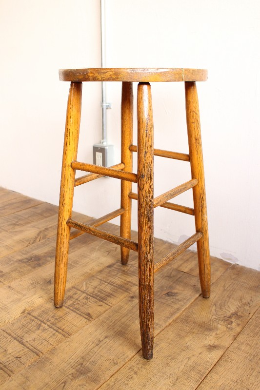 Vintage Standard Wood Stool.
