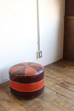 Leather Stool.