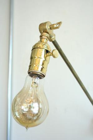 Solid Brass Bracket Lamp.