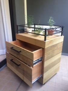 ガーデンチェスト(収納箱)  ウッドデッキ用イタウバ材