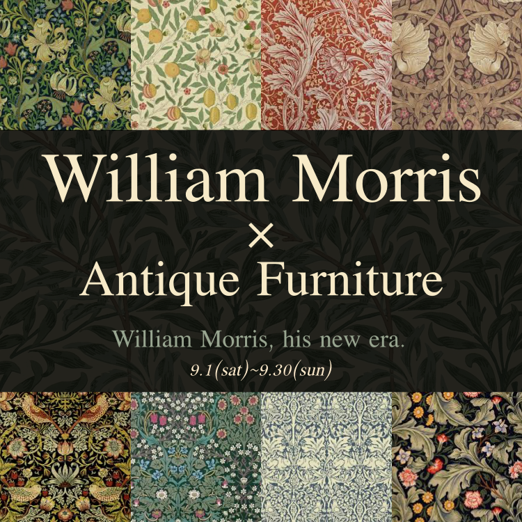 《予告》William Morris × Antique Furniture