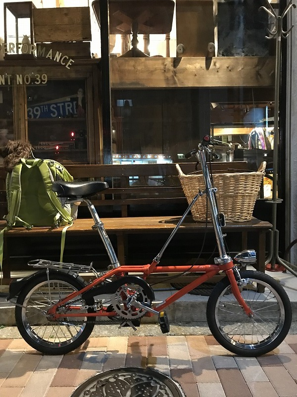 Dahon folding bike.