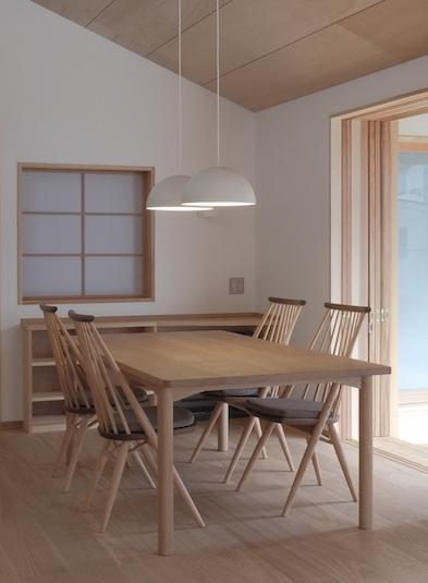 デザインテーブル ナラ材