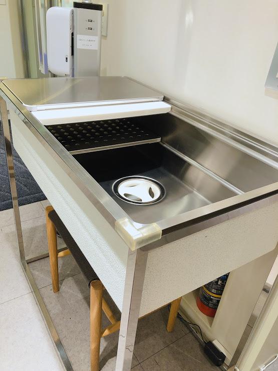 オーダーキッチン用で3Dシンクやタイルなどを見て廻ってます