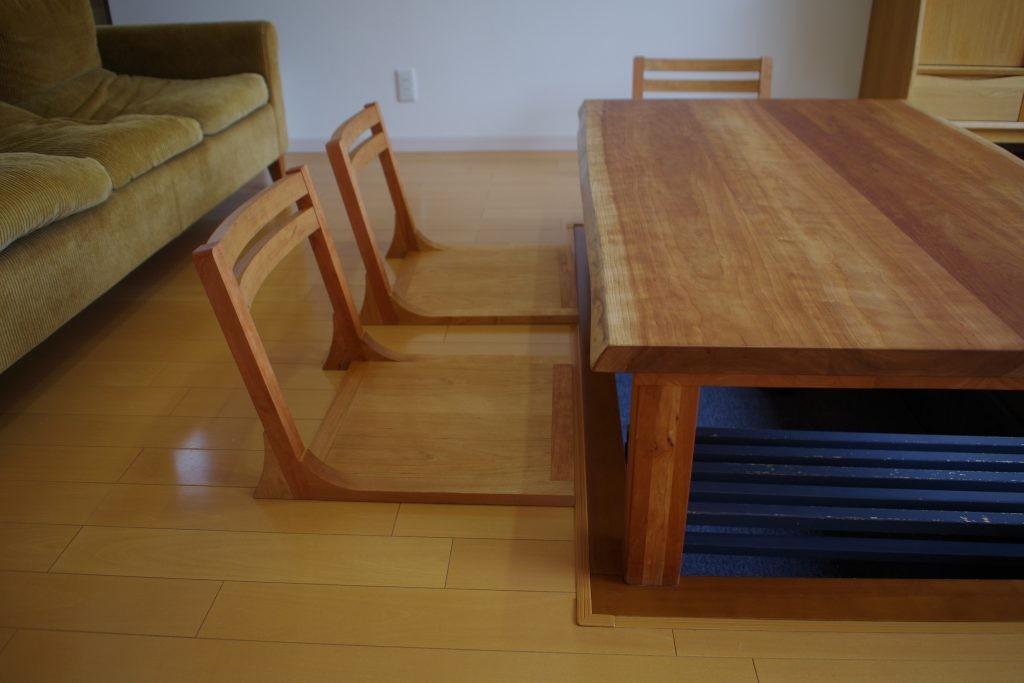 座椅子 アメリカンチェリー材
