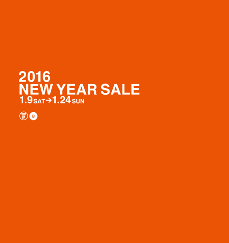 ●2016 NEW YEAR SALE のご案内