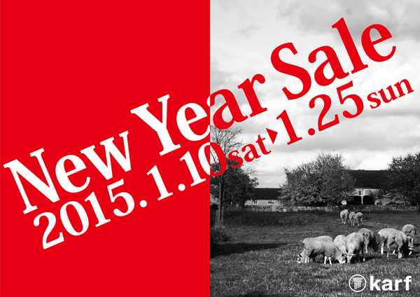 ●New Year Sale 開催中!!<展示現品販売 vol.2>