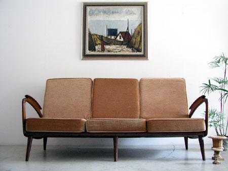 Organic shaped armrets sofa from the Netherlands