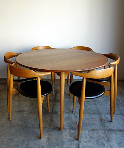Heart chairs dining set by Hans J.Wegner
